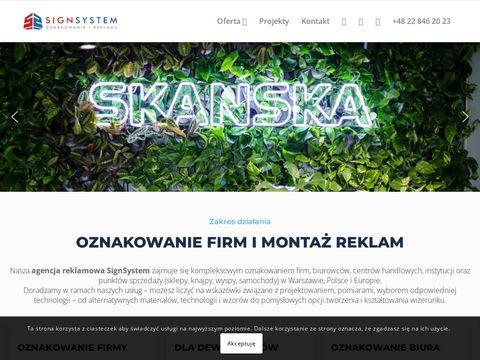 Oznakowanie firm i reklama wizualna - Signsystem.pl