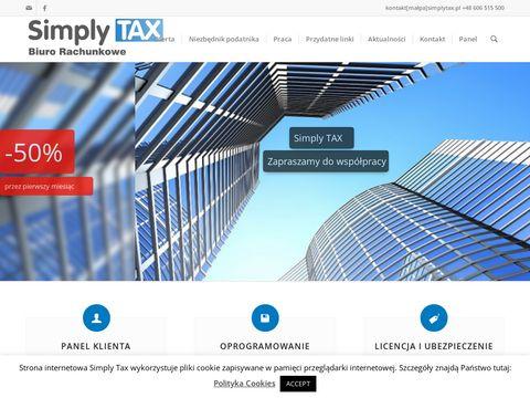 Simply TAX. Nowoczesne Biuro Księgowe. Usługi Rachunkowe
