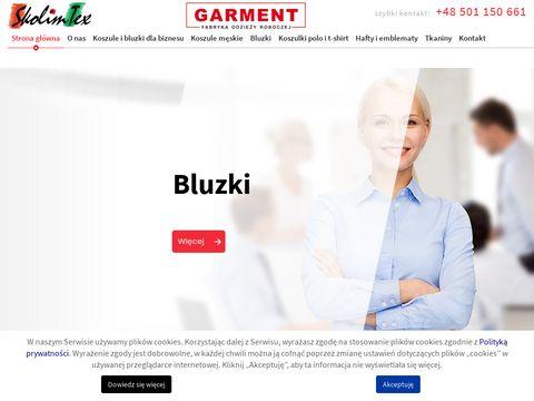 Www.skolimtex.pl koszule dla pracowników