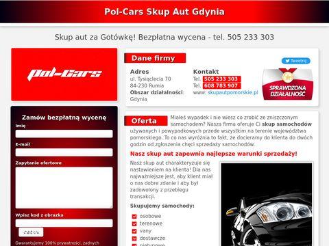 Skup aut powypadkowych w Gdynii