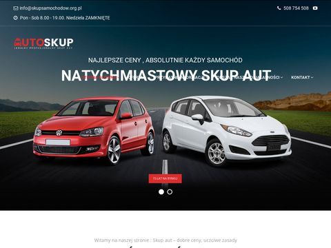 Skup aut Siemianowice 艢l膮skie, skup samochod贸w Tarnowskie G贸ry