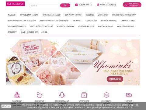 Slubnezakupy.pl - sklep z dekoracjami Å›lubnymi