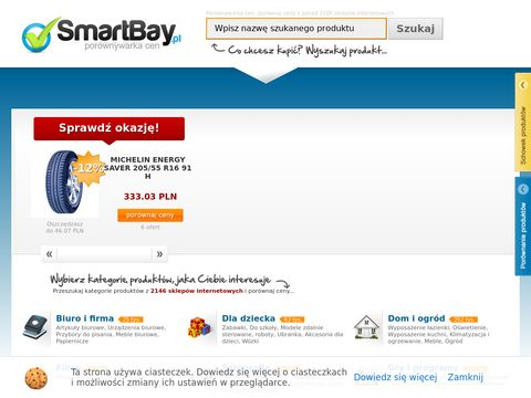 SmartBay.pl - por贸wnywarka cen, por贸wnaj ceny tysi臋cy produkt贸w! Kupuj z g艂ow膮, kupuj ze SmartBay.pl