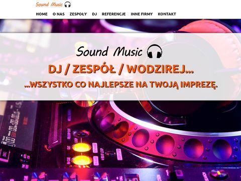 Sound Music - Zespół muzyczny, DJ prezenter, wodzirej, organizacja imprez