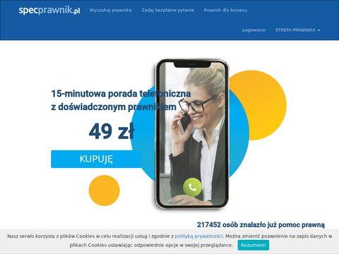 SpecPrawnik.pl - ludzkie podejÅ›cie do prawa