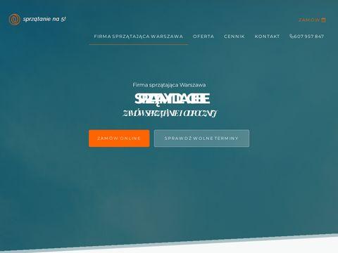 Firma sprzÄ…tajÄ…ca Warszawa SprzÄ…tanie na 5