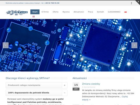 Monitoring maszyn budowlanych srtime.pl