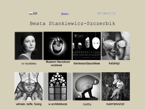 Beata Stankiewicz-Szczerbik szk艂o artystyczne, witra偶e, rze聼ba