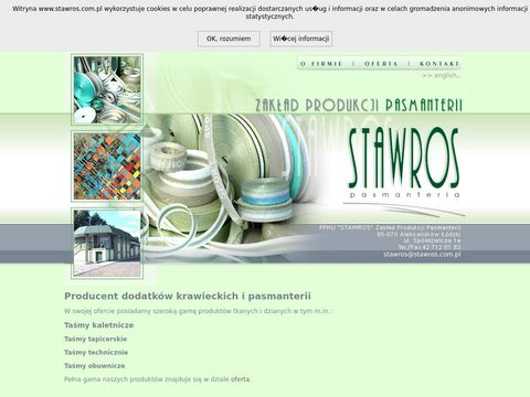 Stawros - producent dodatków krawieckich z okolic �odzi