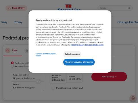 Rejs statkiem, prom do Szwecji - stenaline.pl