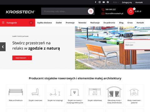 Sklep internetowy polskiego producenta stojaków rowerowych firmy Krosstech s.c.