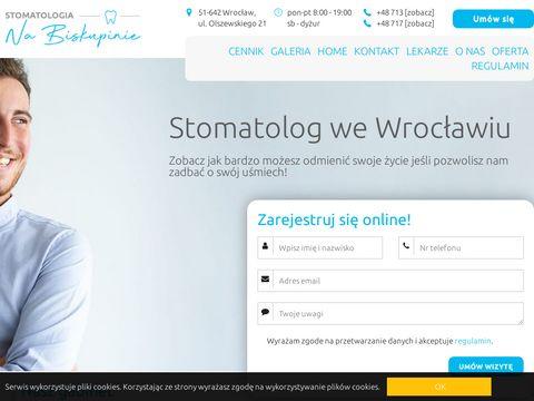 STOMATOLOGIA NA BISKUPINIE Przychodnia stomatologiczna Wroc艂aw