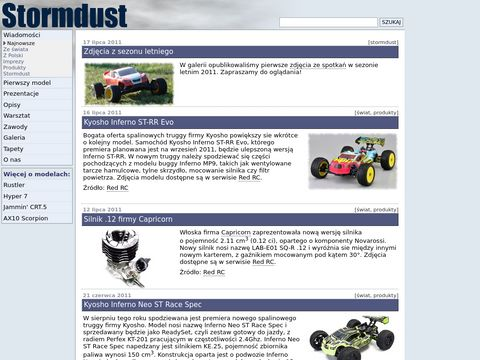 Stormdust: samochody RC