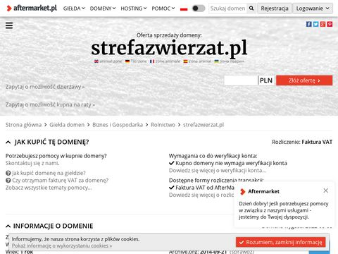 StrefaZwierzat.pl - Og艂oszenia zwierz膮t, zwierz臋ta domowe
