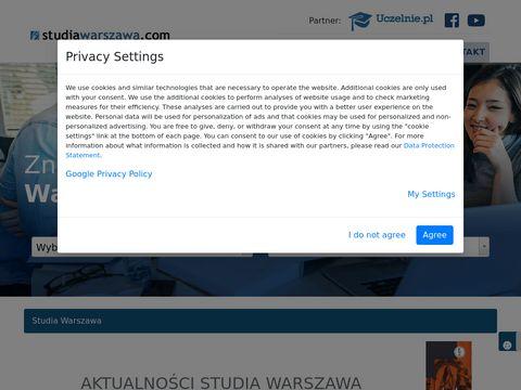 Ceny - studia Warszawa