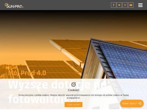 Instalacje fotowoltaiczne - Prąd ze słońca Sun Pro