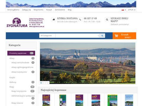 Mapa Bieszczad : www.sygnatura.com.pl