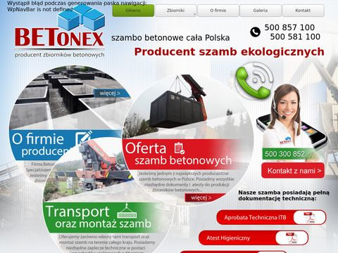 Szamba betonowe produkcja i sprzedaż