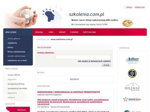 Szkolenia.com.pl - internetowa baza szkoleń