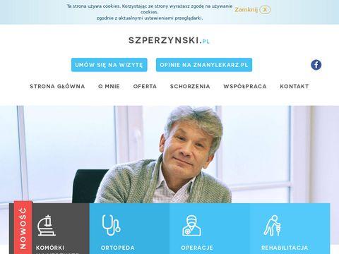 Ortopeda Poznań, Traumatolog – Dr Grzegorz Szperzyński