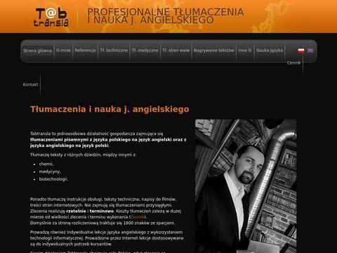 Tłumaczenia angielski-polski polski-angielski