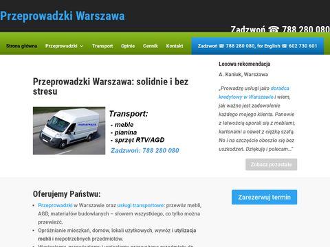 Taxi baga偶owe Warszawa