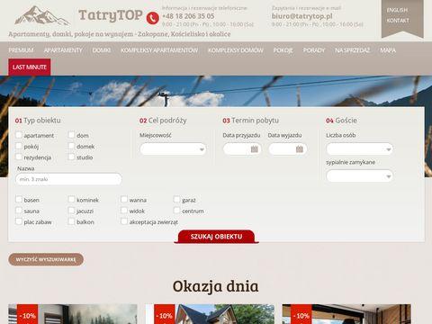 Apartamenty w centrum Zakopanego - tatrytop.pl