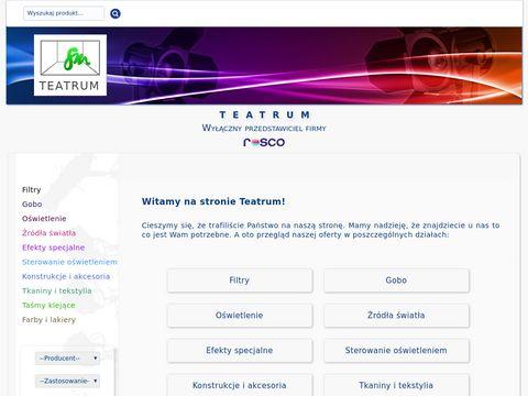 TEATRUM | Wyłą…czny przedstawiciel firmy Rosco