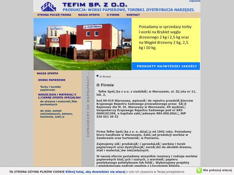 Torby papierowe - Tefim Sp. z o.o.