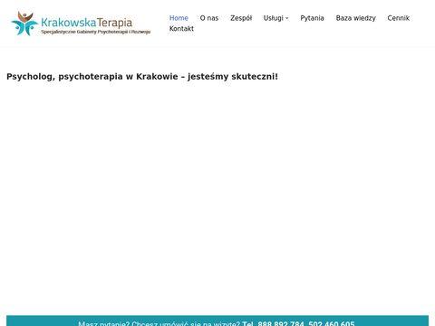 Krakowska Terapia. Psycholog, psychoterapeuta, psychiatra.