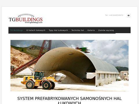 TG Buildings(R) - budownictwo, hale stalowe. Systemy hal stalowych prefabrykowanych.