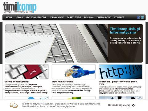 Timikomp Oświęcim - serwis komputerowy, naprawa komputerów i laptopów, strony internetowe