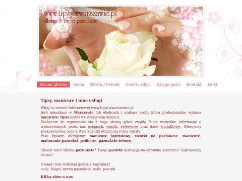 tipsy, manicure Warszawa