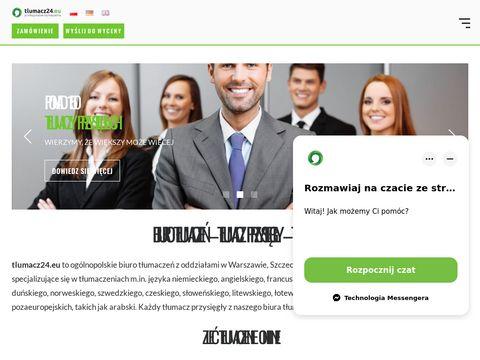 Tlumacz24.eu - Biuro tłumaczeń Szczecin, Biuro tłumaczeń Warszawa