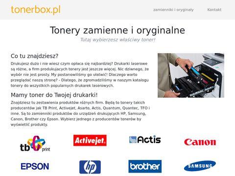 Tonery do drukarek zamienniki - TonerBox.pl