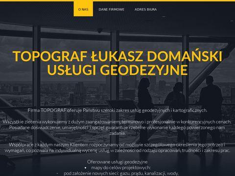 Topograf - Us艂ugi geodezyjne Tomasz贸w Maz