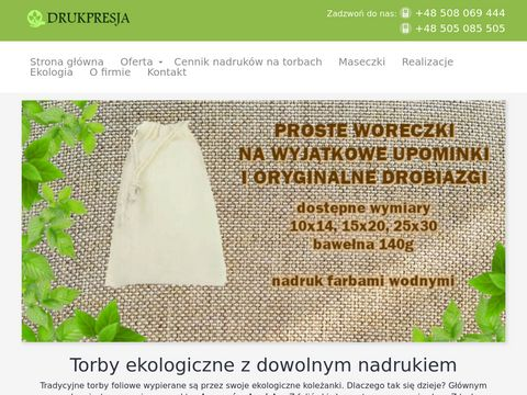 Torby ekologiczne i reklamowe z nadrukiem