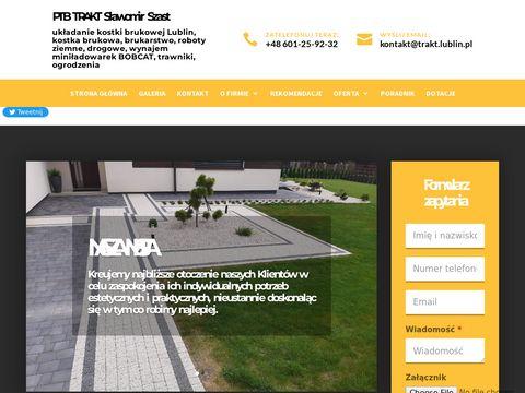 PTB TRAKT S.Szast - układanie kostki brukowej
