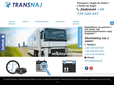 Transport i przeprowadzki Polka Anglia, Anglia Polska