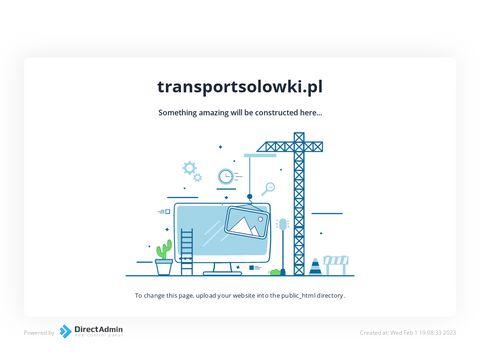 Transport Solówki Usługi transportowe Solówka