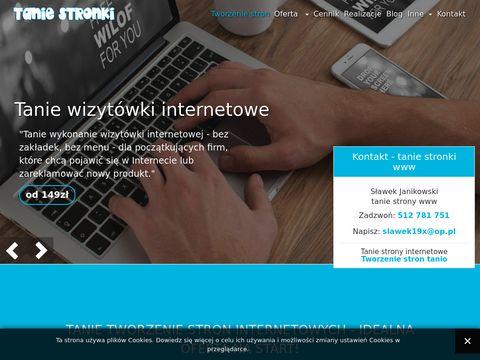 Tanie strony www - tworzenie i reklama