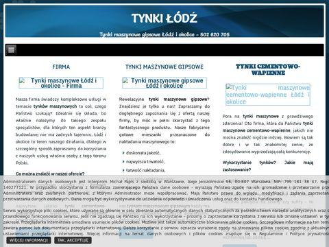 Tynki Łódź - Odporna na uszkodzenia tynki maszynowe dla domu i firmy