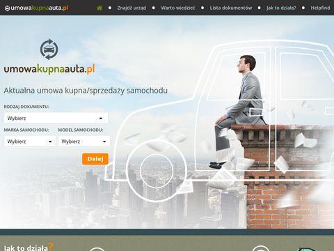 Umowa kupna sprzedaży samochodu - UmowaKupnaAuta.pl