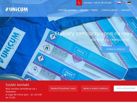 Etykiety na roli - unicum.com.pl