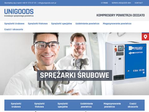 Www.unigoods.com.pl Kompresory Å›rubowe