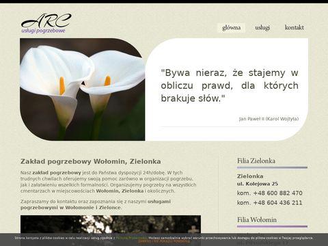 Zakład usług pogrzebowych z Zielonki ARC