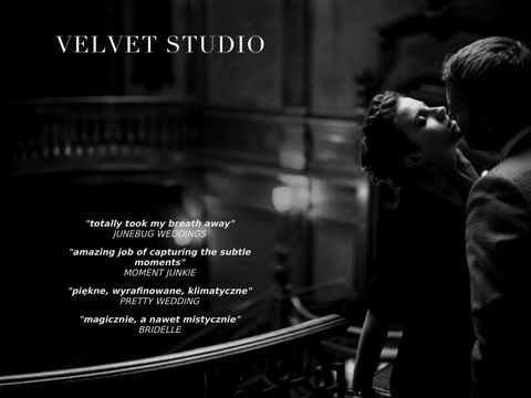 Velvet Studio - Ekskluzywna fotografia 艣lubna.