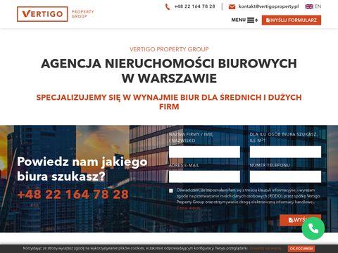 Vertigoproperty.pl - pomieszczenia biurowe w Warszawie dla firm