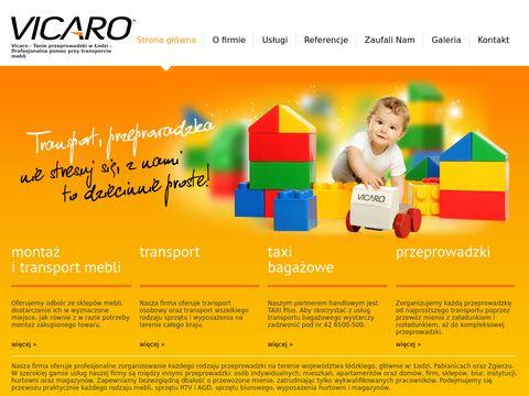 VICARO- transport, przeprowadzki Łódź