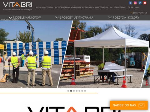 Namioty reklamowe VITABRI producent namiotów